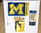 New Lot of 3 Michigan Fan Flags Automobile Flag Vertical Banner 3 X 5 Flag