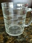 VINTAGE HAZEL ATLAS CLEAR GLASS ONE CUP STRAIGHT SIDED MEASURING CUP - NO SPOUT