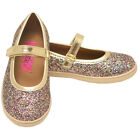Rachel Shoes Girls Gold Multi Glitter Mary Jane Casual Shoes 12 4 Kids
