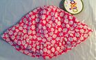 NWT CIRCO INFANT GIRL PINK FLORAL RUFFLES POLYESTER SWIM HAT UPF 50+ 18 MONTHS