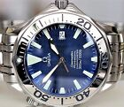 OMEGA MENS SEAMASTER 41mm PROFESSIONAL AUTOMATIC 1000ft  ELECTRIC BLUE 2055.80