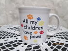 Fiesta Ware WHITE All My Children Have Paws Java Handle Mug  New
