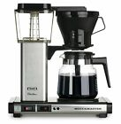Moccamaster KBG 10 Cup Coffee Maker Brewer Machine + Glass Carafe Brushed Silver