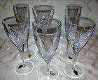 6 Waterford Merrill Crystal Glasses New Wine Flute Goblet Iced Beverage  New Lot