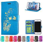 Butterfly Patterned Strap PU Leather Wallet Flip Stand Card Slot For Motorola
