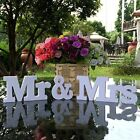 Chic Mr  Mrs Love Wedding Letters White Wooden Mr and Mrs Table Sign Decoration