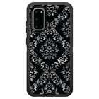 OtterBox Defender for Galaxy S5 S6 S7 S8 S9 PLUS Black White Silver Damask