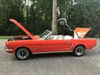 1965 Ford Mustang 1965 MUSTANG CONVERTIBLE GORGEOUS 3 OWNER 351 WINDSOR 8 CYL POPPY RED AC