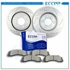 For Ford F150 Expedition Navigator Front Drilled Slot Brake Rotors Ceramic Pads