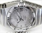 AMAZING OMEGA MENS CONSTELLATION CO-AXIAL CHRONOMETER BOX/PAPER DIAMOND DIAL GRT