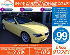 2007 BMW 650 48 SMG SPORT CONVERTIBLE GOOD BAD CREDIT CAR FINANCE FROM 99 P W