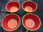 4 Dansk CARIBE - ARUBA ORANGE Soup/Cereal Bowls, 6 1/8