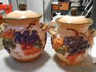 CERTIFIED INTERNATIONAL PAMELA GLADDING TWO CANISTERS TUSCANY GRAPES
