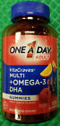 One A Day Adult Vitacraves Multi Plus Omega 3 DHA Gummies 100 Ct Exp 09 2017