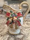Fitz and Floyd Christmas Deer Pitcher 19/242