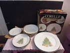 4 PLACE SETTINGS FOR 4 CORELLE HOLIDAY MAGIC CHRISTMAS TREE - NEW IN BOX NO CUPS