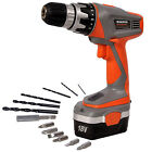 18v Cordless Drill with Battery Driver Screwdriver Set Charger Power Tool Case