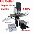 110V Auto Rapid Stapler Book Binding Flat Saddle Riding Binder With Pedal