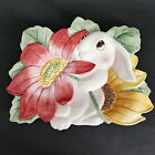 Fitz & Floyd Essentials Bunny Blooms Canape Plate - Rabbit Flowers Spring Easter