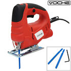 VOCHE® 400W ELECTRIC ADJUSTABLE BEVEL JIGSAW VARIABLE SPEED JIG SAW + 2 x BLADES