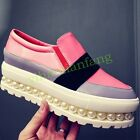 Womens Beads Flatform Slip On Loafers Sneakers Leisure Shoes Flats Comfort Vogue