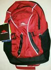 HIGH SIERRA ENDEAVOR BLACK RED 17 LAPTOP STORAGE 3 COMPARTMENT BACKPACK NEW