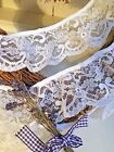 65mm 25 Nottingham Pretty White Gathered Frilled Lace Trim Sewing Crafts