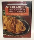 25th Anniversary Weight Watchers Quick and Easy Menu Cookbook 1988 Hardcover