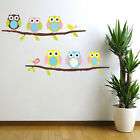 Cute Animal Owl Wall Decals Kids Bedroom Baby Nursery Stickers Art Room Decor
