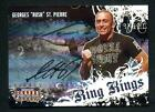 2008 Donruss Americana Georges St. Pierre Signed Ring Kings Auto Autograph