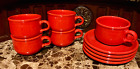 Chritsmas RARE coffee Mugs Red plates Waechtersbach VINTAGE