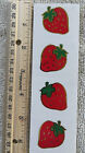 Mrs Grossman STRAWBERRY Reflections Strip of 4 GOLD OUTLINED Stickers