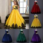 Flower Girl Princess Dress Kid Party Wedding Pageant Formal Tutu Dresses Clothes