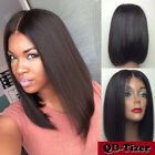 Heat Resistant Lace Front Wig Synthetic Hair Bob Straight Black Wigs for Women