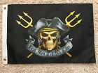 PIRATE FLAG 12X18 DEAD MEN TELL NO TALES DBL SIDED NYLON BOAT MOTORCYCLE