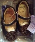 NEW In BOX PEDIPED TARA BROWN LEATHER Toddler Girls 20 Sz5 Flex Sole Shoes