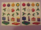 Creative Memories Lot of Two Block Stickers Christmasballs Presents Holly