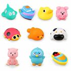 Langerza Toddler Bath Toys 10 PackSquirt Squeaker Toys With Bath Toy Organizer