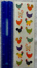 Mrs Grossman CHUBBY CHICKENS Strip of Cute Chickens Stickers RETIRED