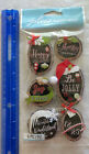 Jolees Boutique HOLIDAY RINGS Package of 6 Handmade Embellishment Pcs