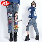 Anime Hip Hop Jeans Skull Halloween Slack Pants Loose Punk Harem Baggy Trousers