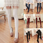 Ladies Women Girls Over The Knee Lace Cotton Thigh High Stretch Socks Gift