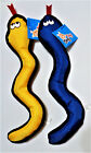 PET INC Canvas Squeaky Dog Puppy Toy Set of 2 13 Snakes Blue
