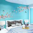 Cherry Peach Blossom Flower Butterfly Mural Removable Wall Decal Stickers Decors