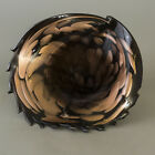 Mariusz Rynkiewicz Hand Blown Art Glass Bowl Cornucopia Horn Vase Seattle Shell