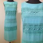 Vtg Mod Dress With Lace Crocheted Overlay Small Space Age Go Go Wedding