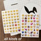 Expression Message High Vinyl Smiling Face Die Cut 4 Sheets Emoji Stickers