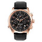 Bulova Precionist Men's 97B122 Quartz Chronograph Rose Gold Case 46.5mm Watch