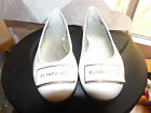 DONALD PLINER JRS HAND MADE White PATENT LEATHER SLIP ON Flats SIZE 29 us size12