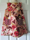 Handmade Maroon Pink Tropical Floral Print Toddler Girl Dress Size 4 Cute
